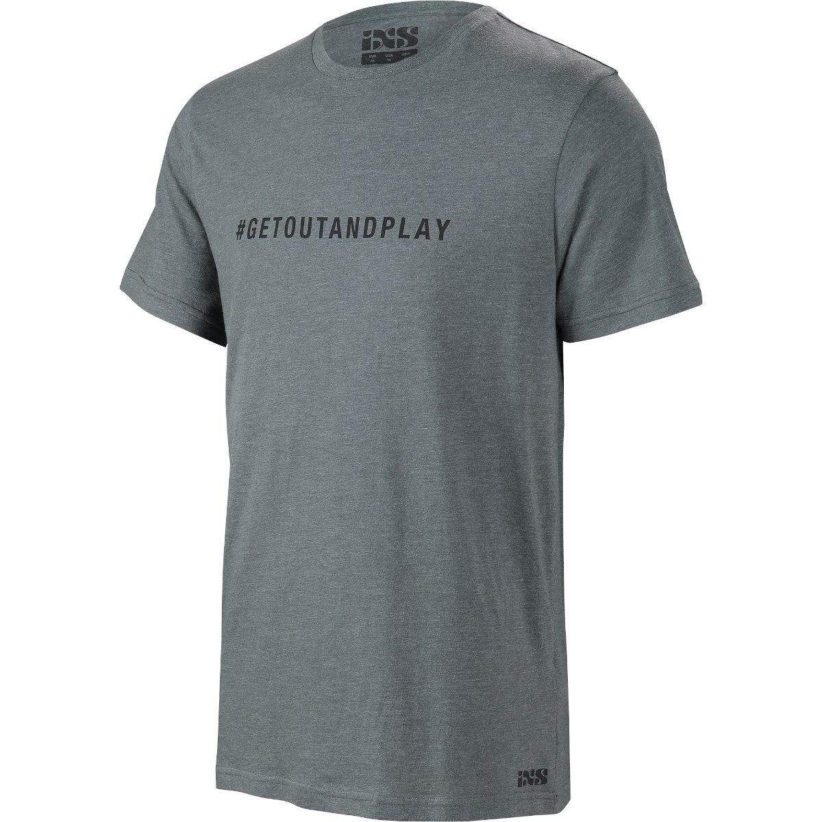 iXS Getoutandplay T-Shirt - graphite