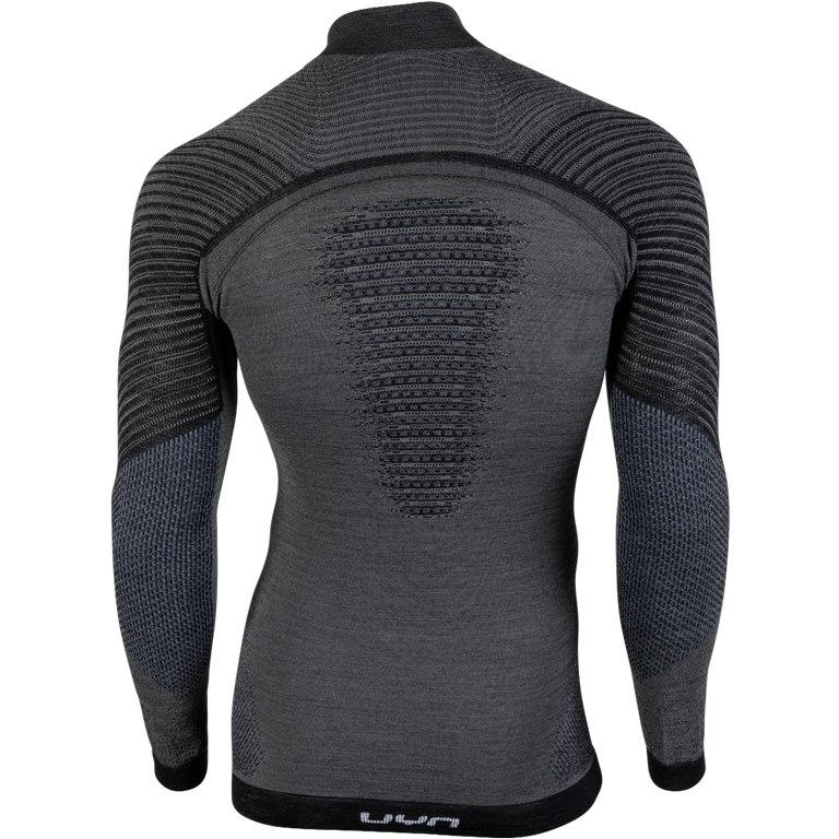 Image of UYN Fusyon Underwear Turtle Neck Shirt - Grey York/Avio/White