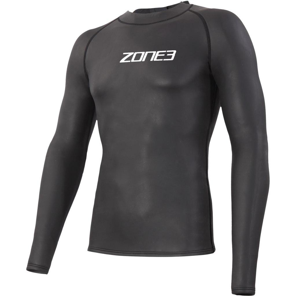 Foto de Zone3 Neoprene Long Sleeve Under Wetsuit Baselayer - black/white