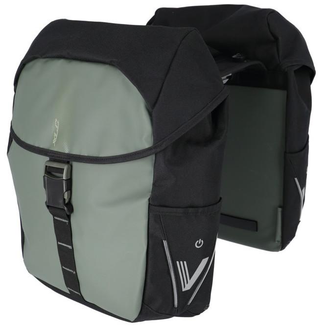 XLC V-Light Active Gepäckträgertasche - Doppelt - MIK - dunkelgrün