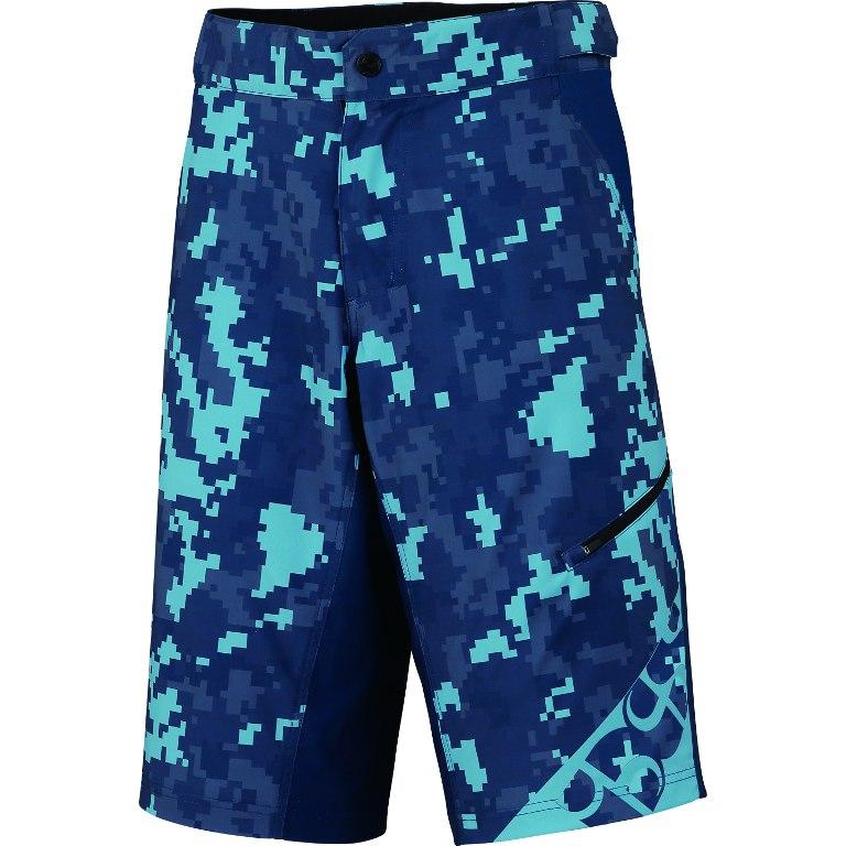 iXS Culm Kids Shorts - camo-aqua marine