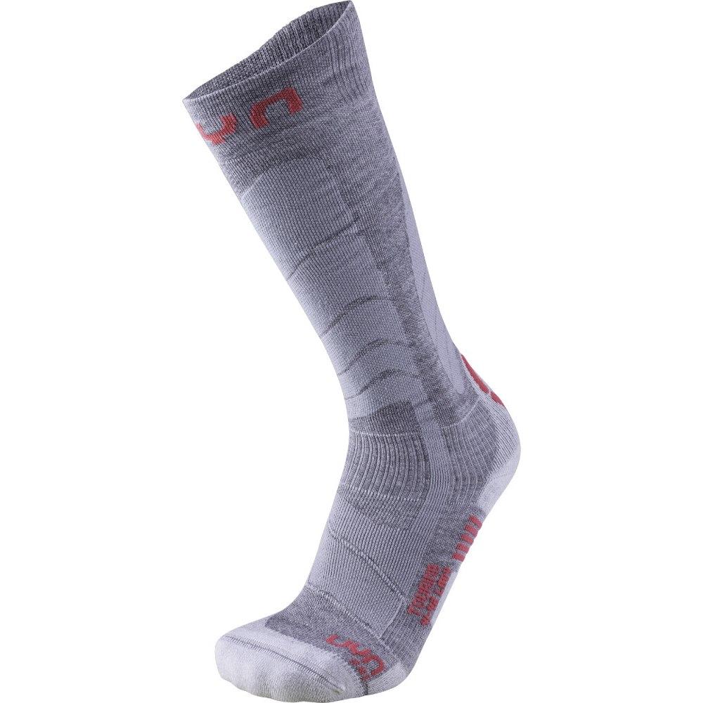 UYN Ski Touring Socks Women - Silver/Fuchsia