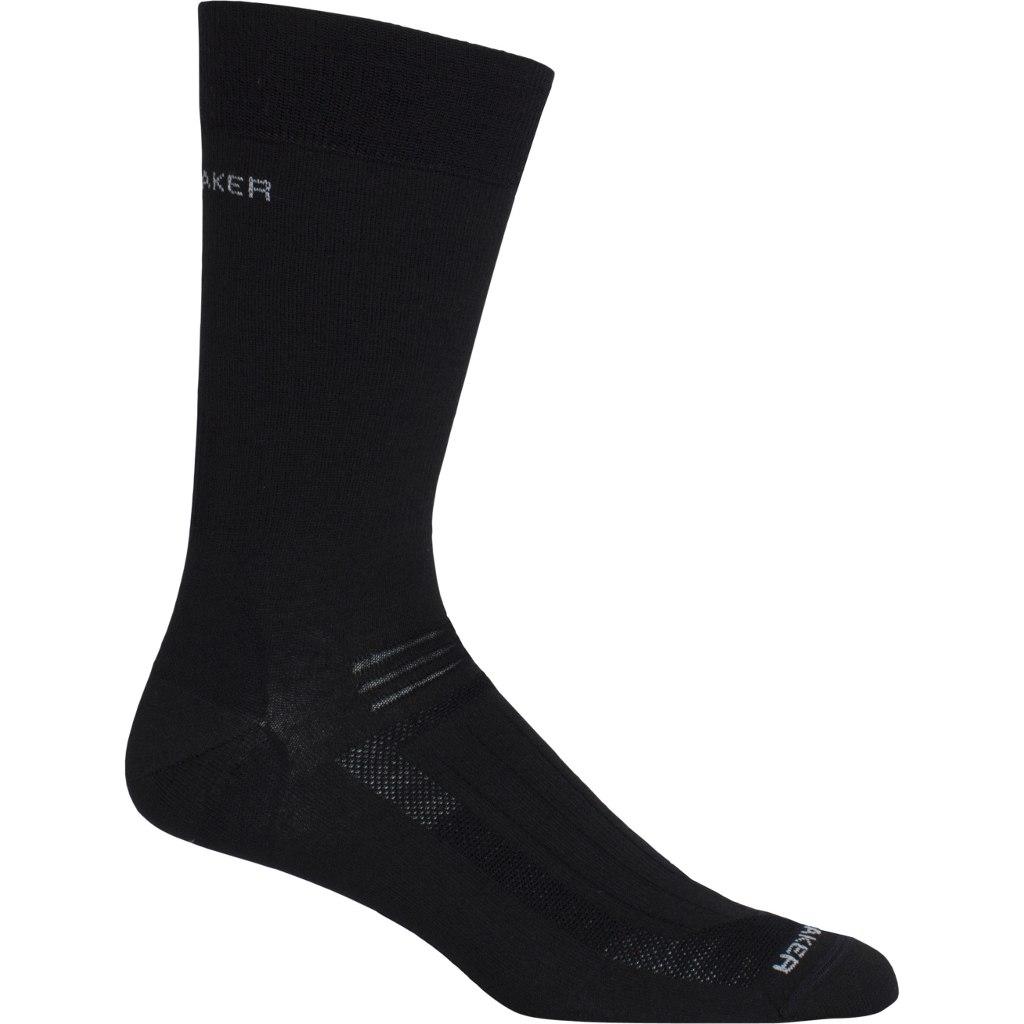 Produktbild von Icebreaker Hike Liner Crew Herren Socken - Black