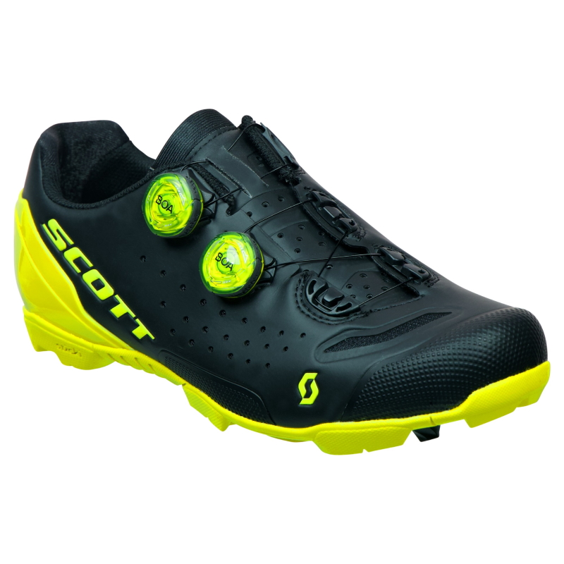 SCOTT MTB RC Schuh - matt black/sulphur yellow