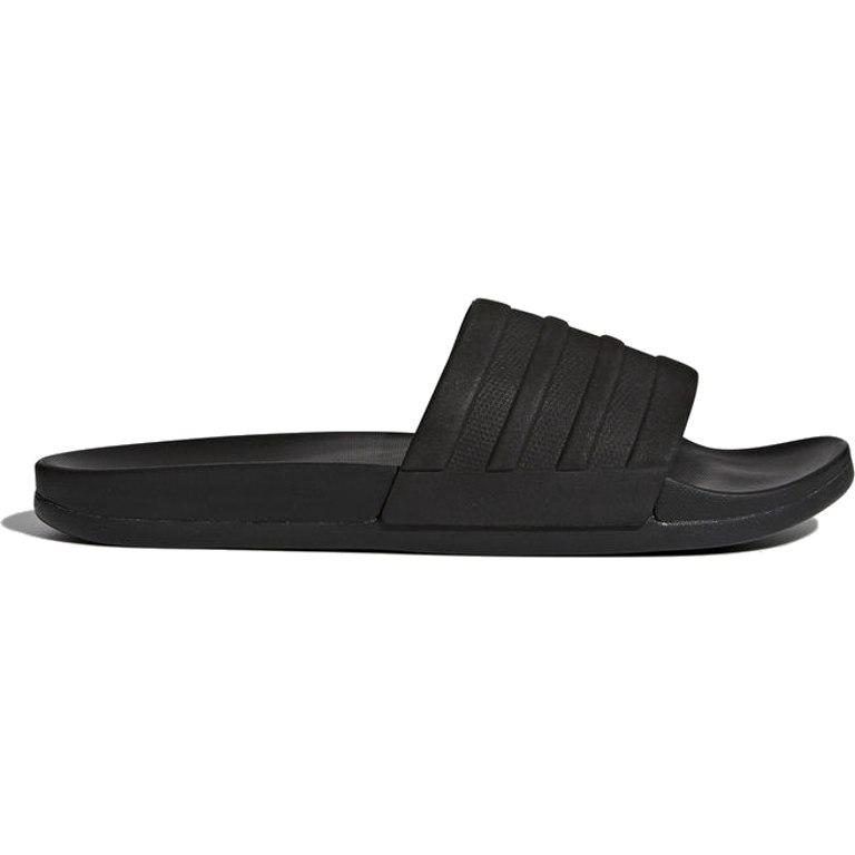 Image of adidas Adilette Comfort Cloudfoam Plus Mono Slides Bathing Shoes - core black/core black/core black S82137