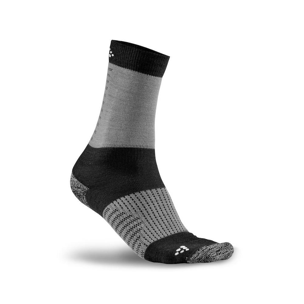 CRAFT XC Training Socks - Black/Dark Grey