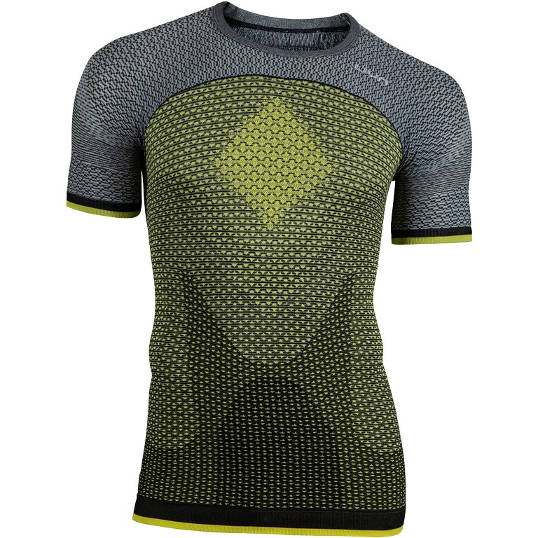 UYN Alpha Running T-Shirt - Tonic Yellow/Sleet Grey