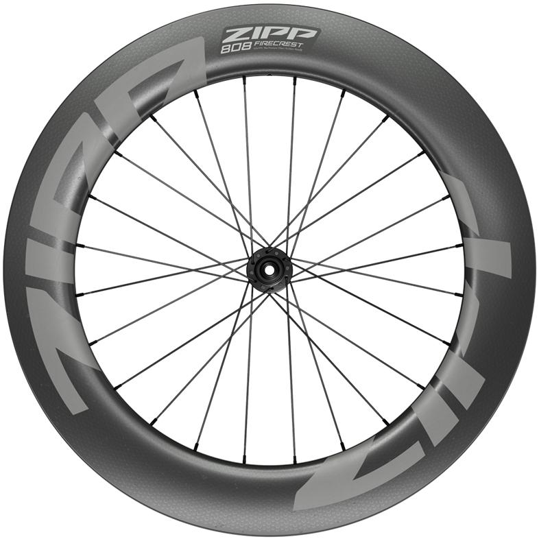 ZIPP 808 Firecrest Carbon Vorderrad - Drahtreifen - Centerlock - 12x100mm - schwarz