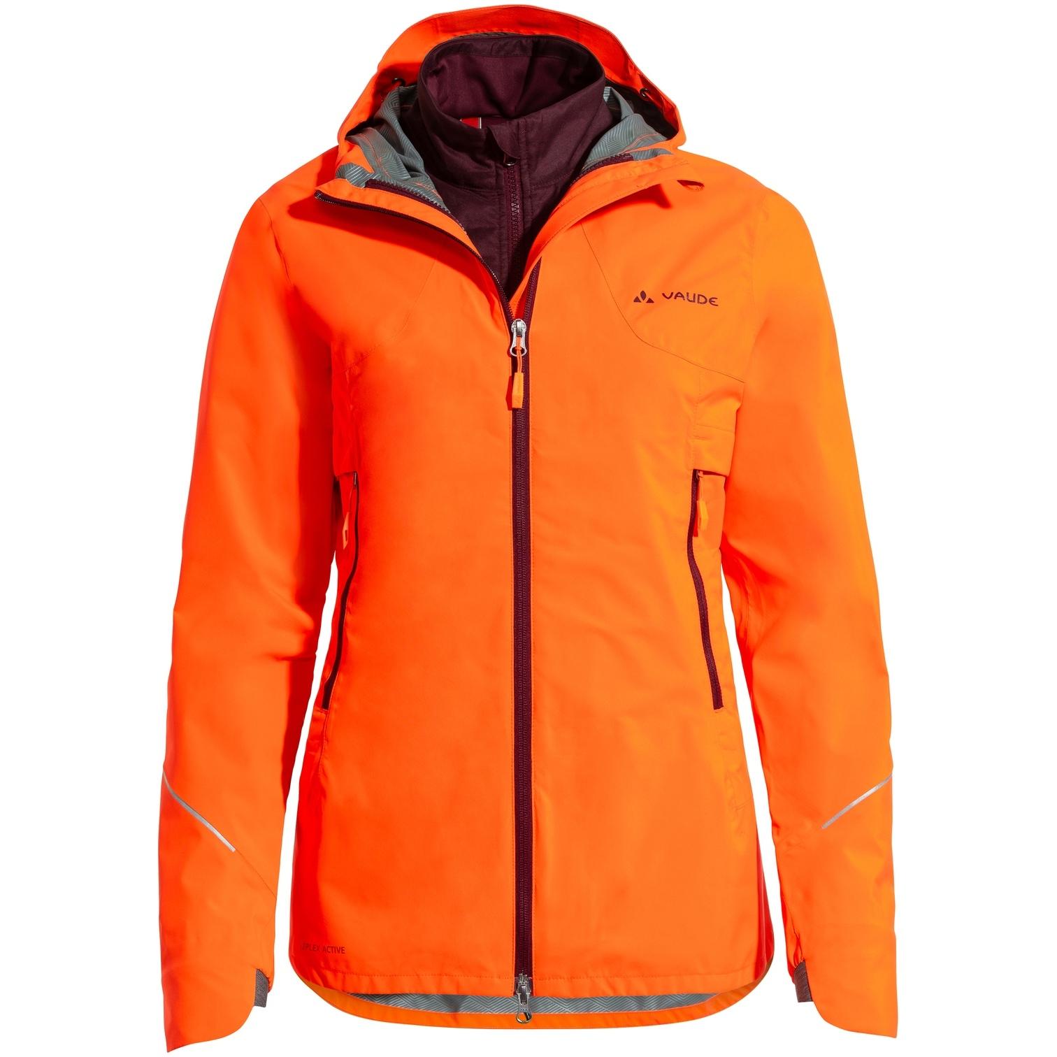 Vaude Women's Yaras 3in1 Jacket - neon orange