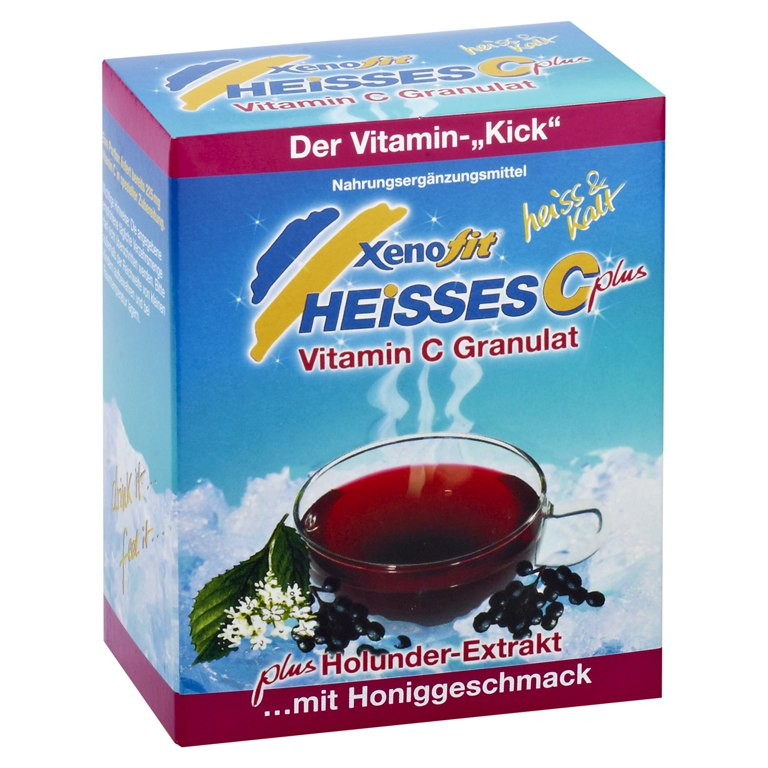 Xenofit Heisses C Plus - Vitamin C + Holunderextrakt Getränke-Granulat - 10x9g