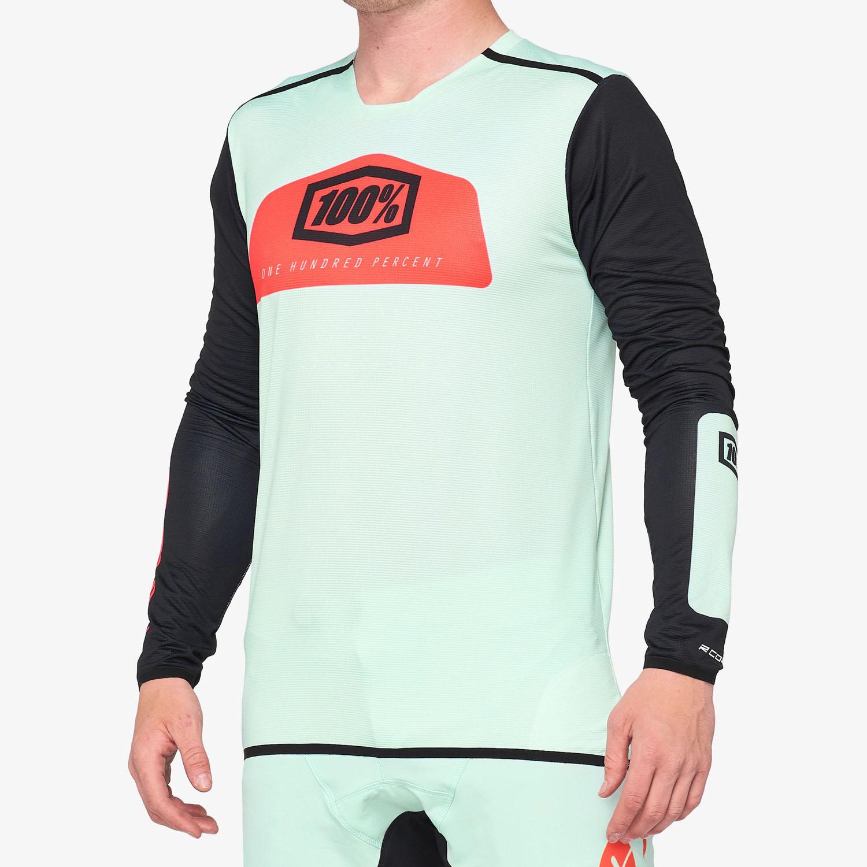 Imagen de 100% R-Core-X DH Long Sleeve Jersey - Foam / Black