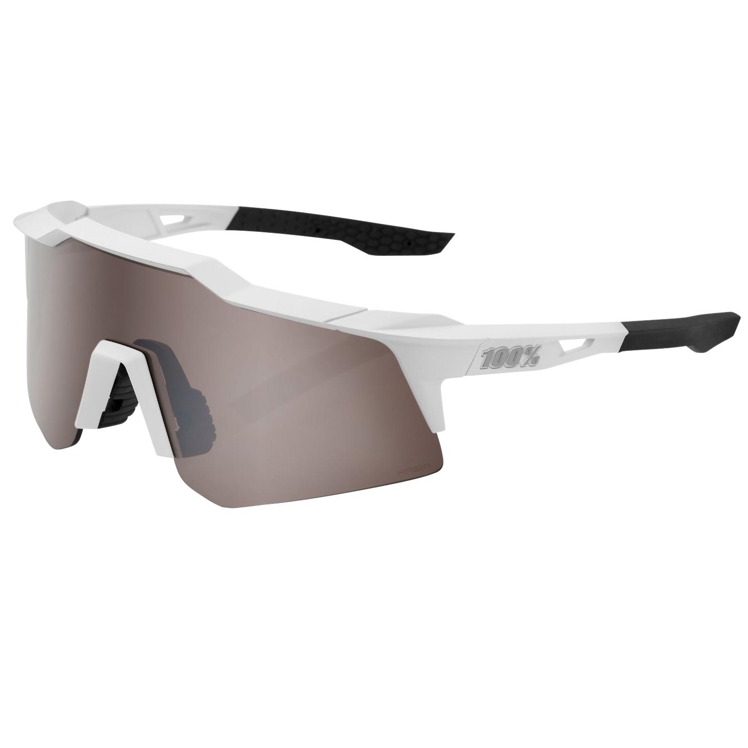 100% Speedcraft - XS - HiPER Gafas - Matte White HiPER Silver Mirror + Clear