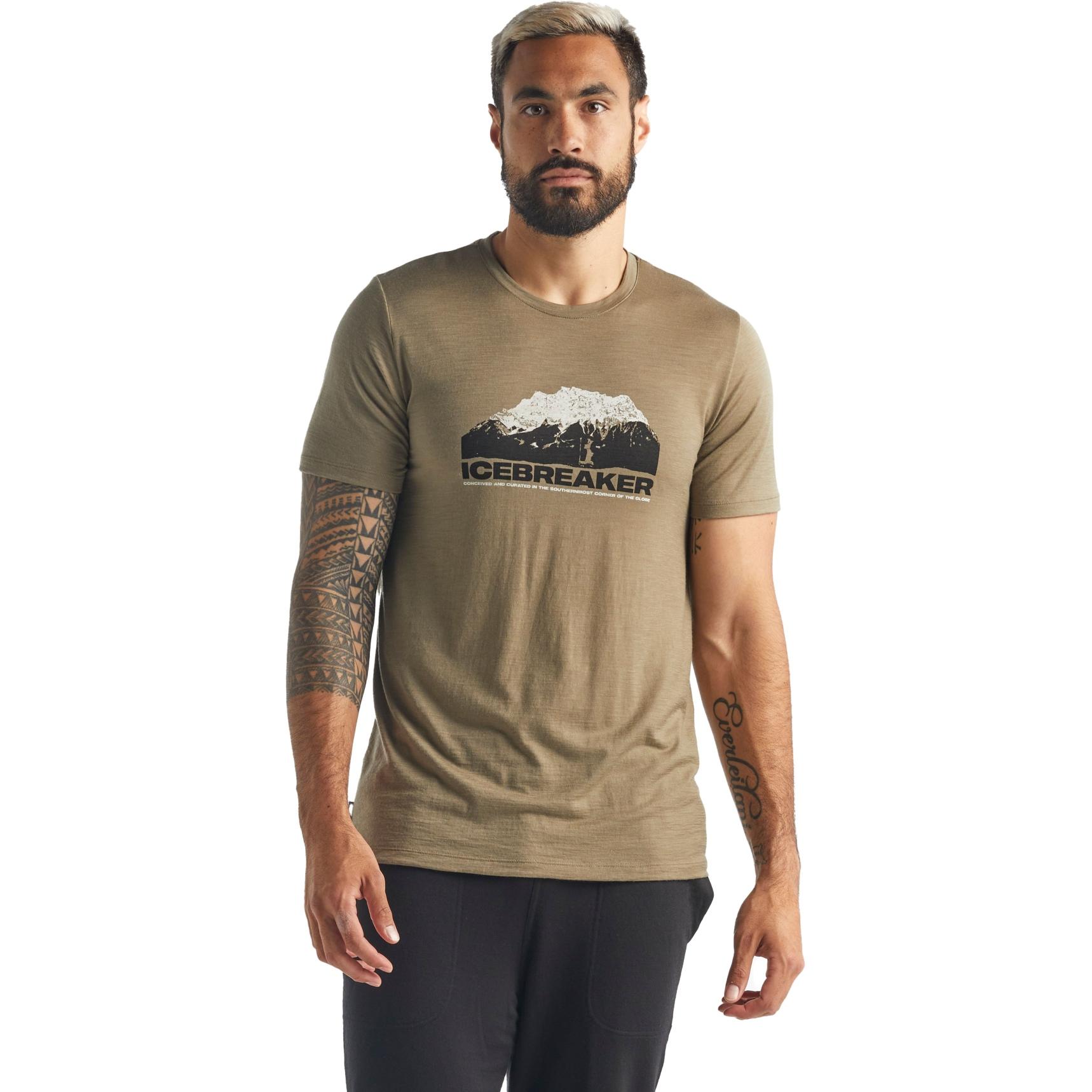 Bild von Icebreaker Tech Lite Crewe Icebreaker Mountain Herren T-Shirt - Flint