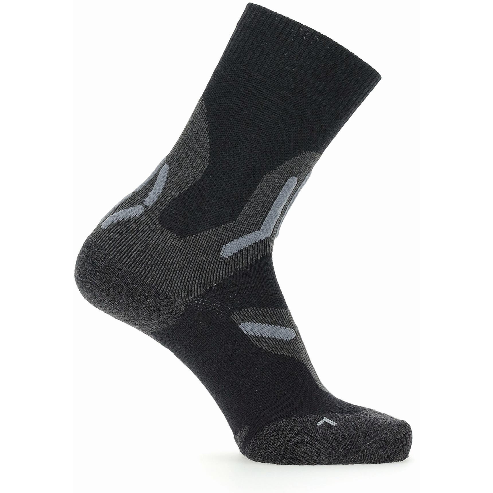 Image of UYN Trekking 2In Merino Mid Cut Socks Women - Black/Grey