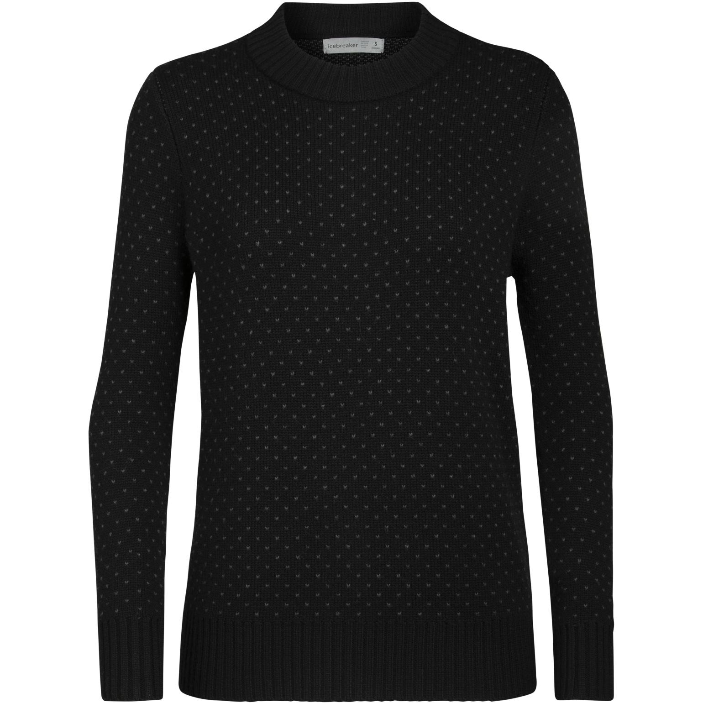 Produktbild von Icebreaker Waypoint Crewe Damen Pullover - Black