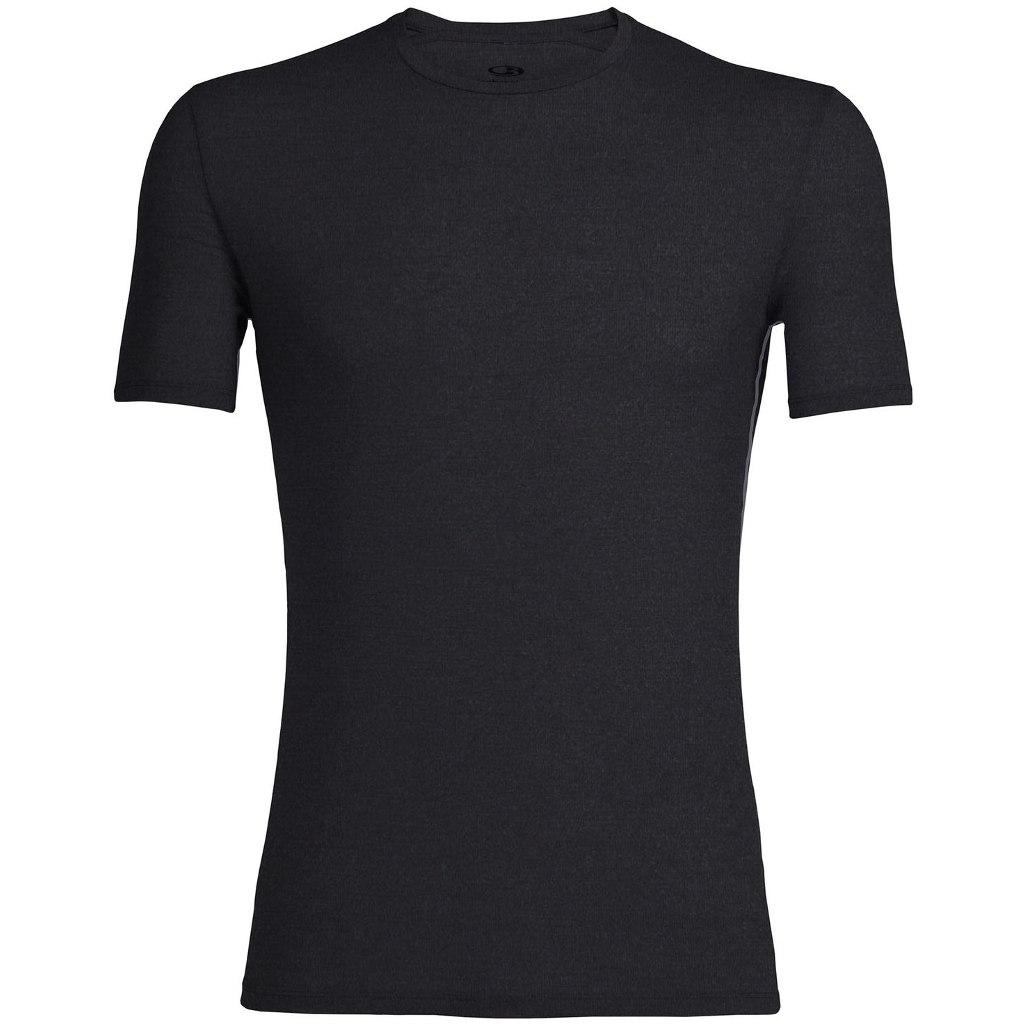 Icebreaker Anatomica Crewe Herren T-Shirt - Black/Monsoon