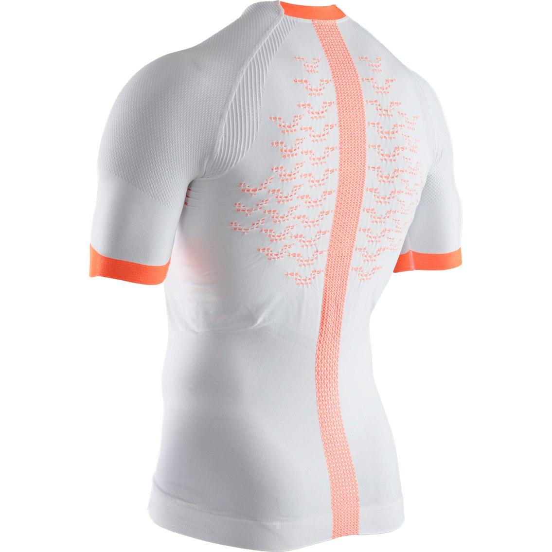 Image of X-Bionic The Trick 4.0 Run Shirt Short Sleeves for Men - arctic white/kurkuma orange
