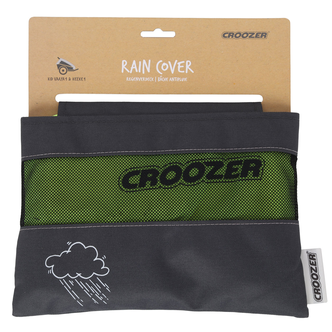 Picture of Croozer Rain Cover for Kid 1-Seat Bike Trailer - lightning yellow