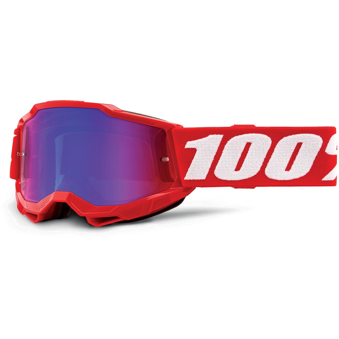 100% Accuri 2 Goggle Mirror Lens Gafas para niños - Neon Red - Pink Mirror