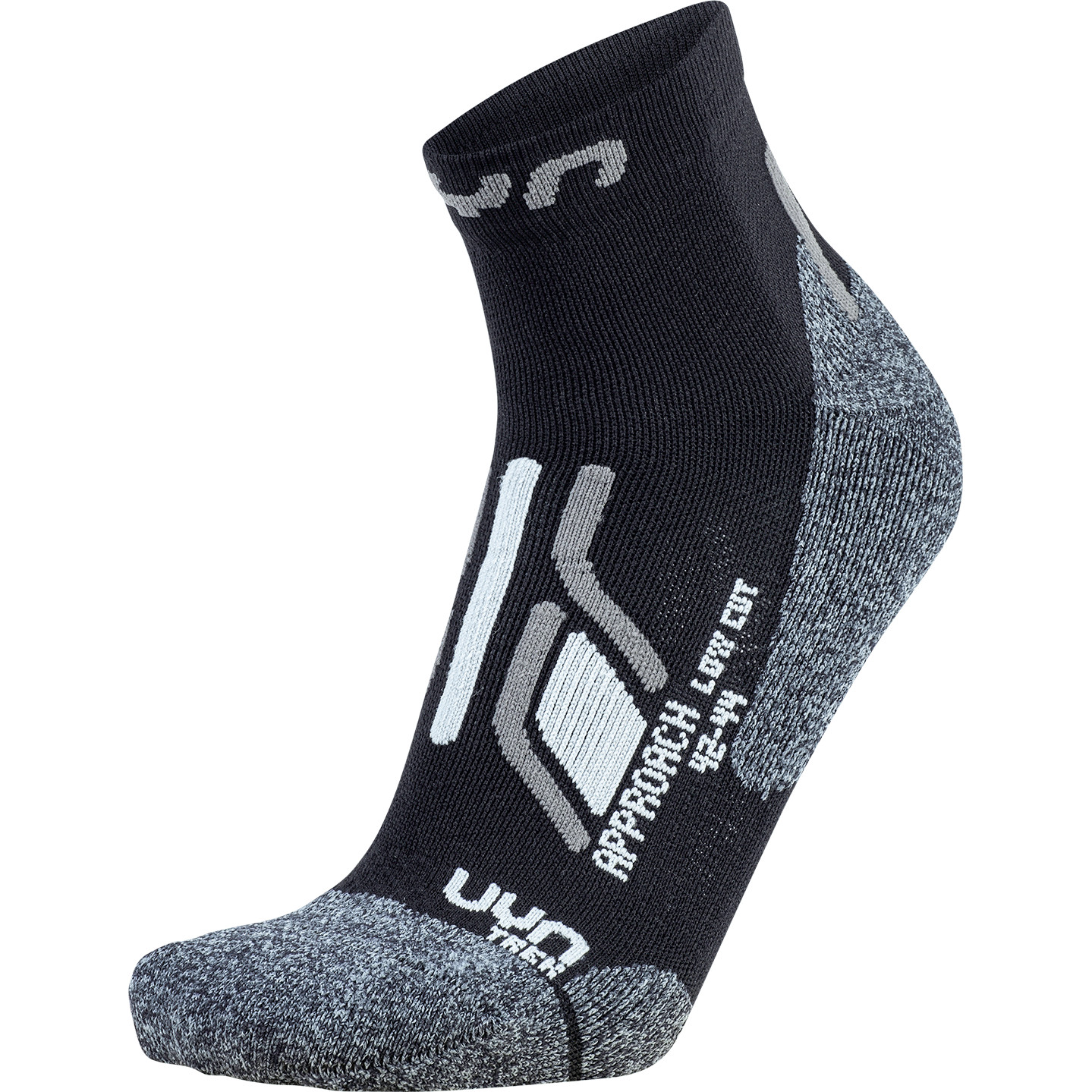 UYN Man Trekking Approach Low Cut Socks - Black/Grey