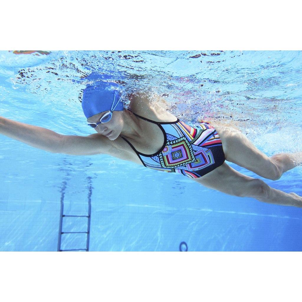 Image of Zoggs Breeze Triback Swimsuit - multi