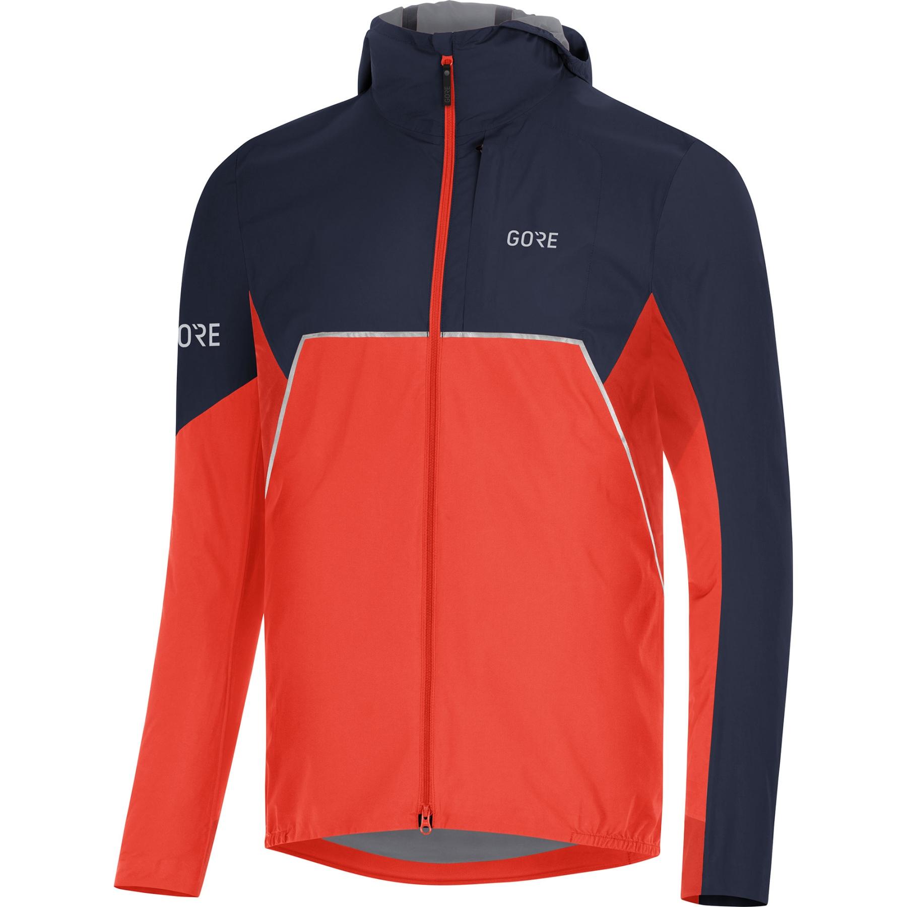 GORE Wear R7 Partial GORE-TEX INFINIUM™ Kapuzenjacke - fireball/orbit blue AYAU