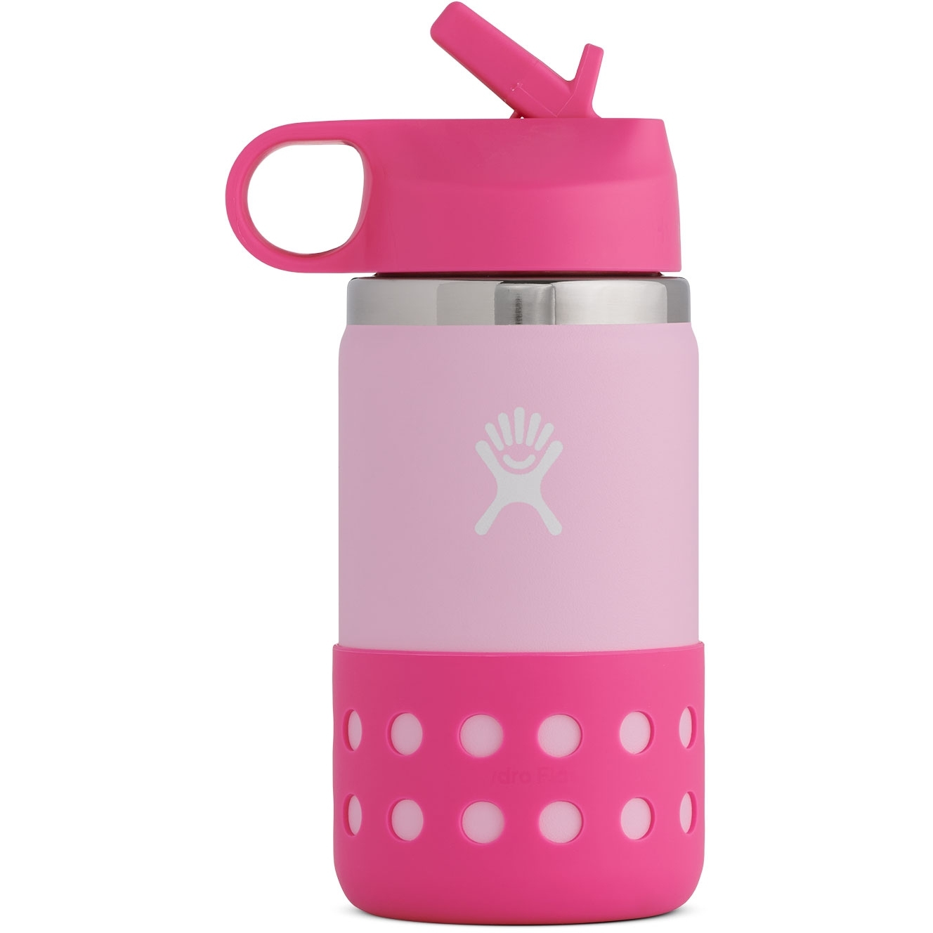 Produktbild von Hydro Flask 12 Oz Kids Wide Mouth Straw Lid & Boot Thermoflasche - 355 ml - Plumeria