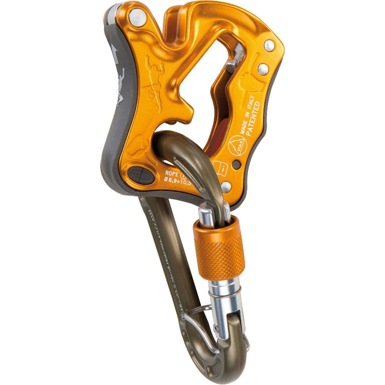 Climbing Technology Click Up Belay Device - yellow