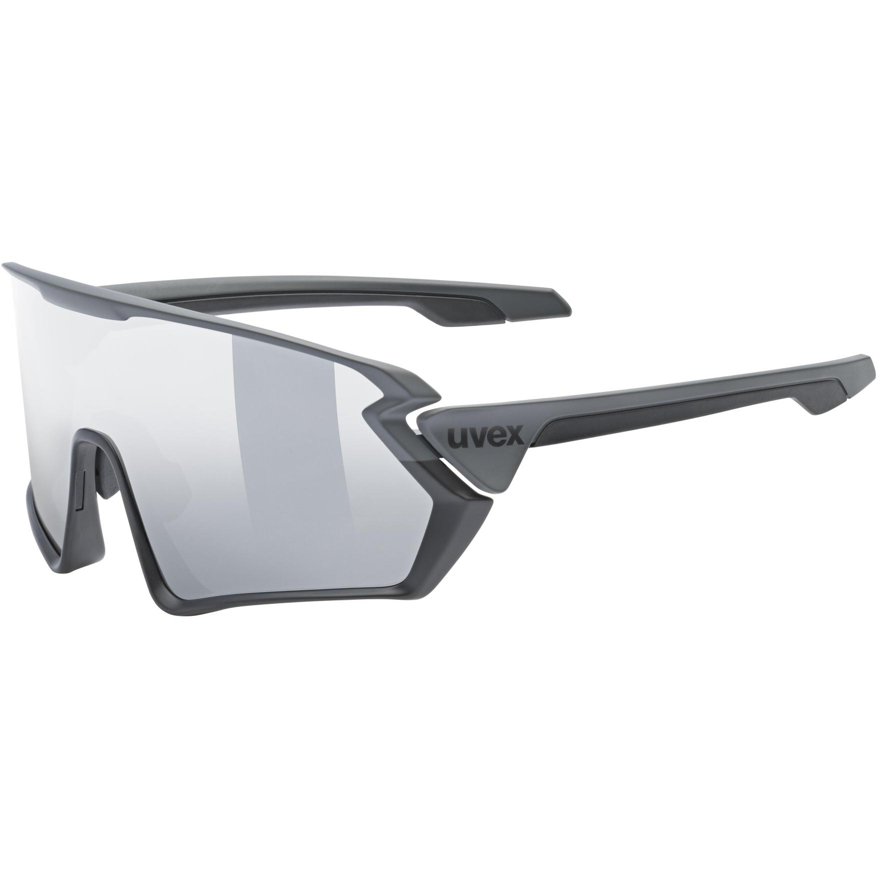 Uvex sportstyle 231 Brille - black-grey mat/mirror silver