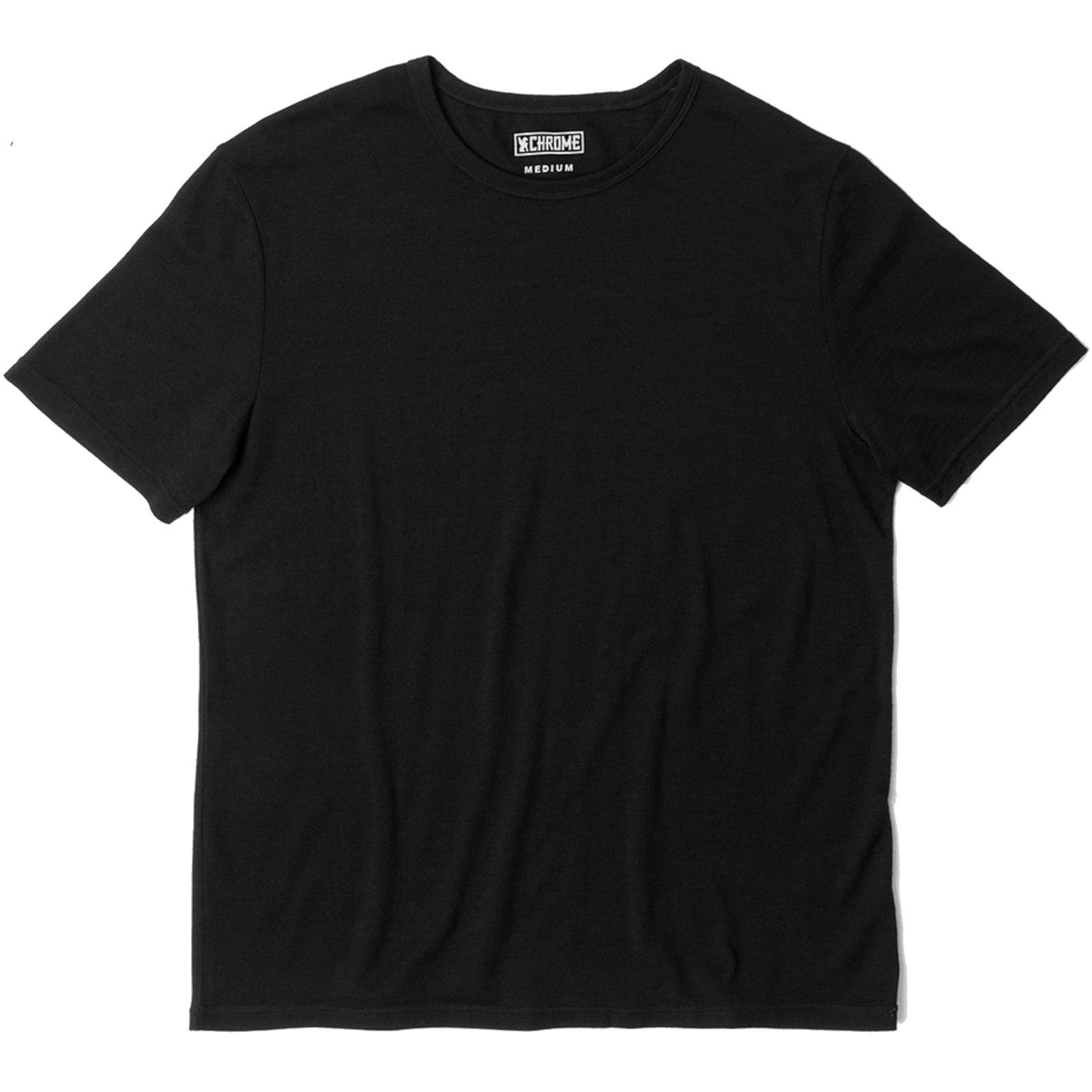CHROME Merino Short Sleeve Tee - Black