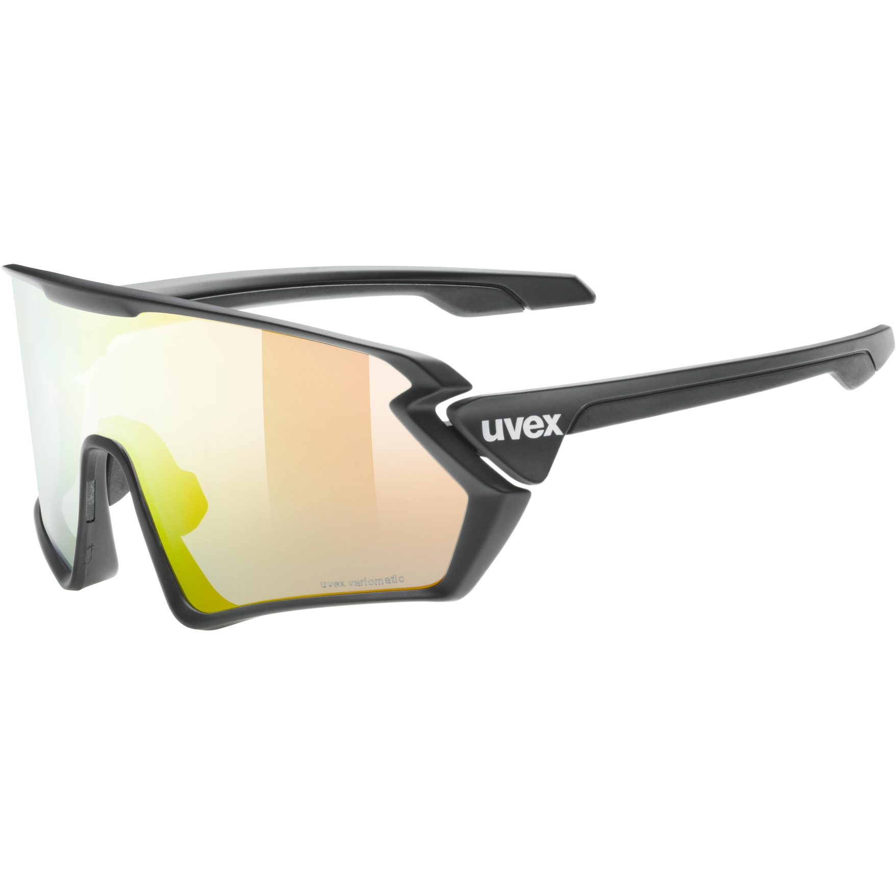 Uvex sportstyle 231 V variomatic Glasses - black mat/variomatic litemirror red + clear