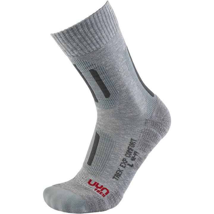 UYN Trekking Explorer Comfort Socken Damen - Light Grey Melange/Anthracite