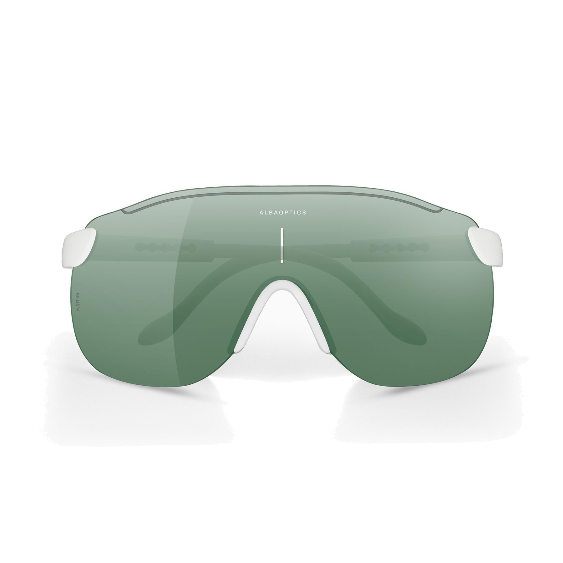 ALBA Stratos White / Leaf Glasses