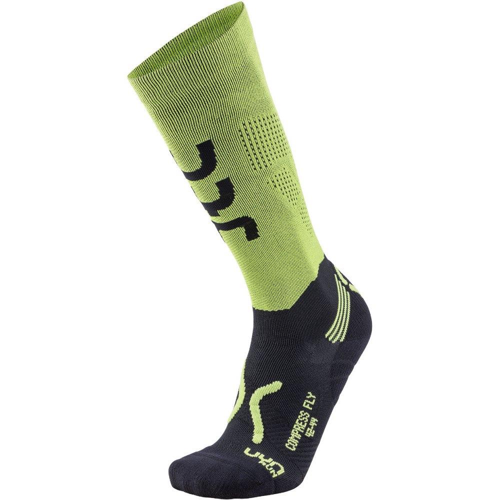 UYN Running Compression Fly Herren Socken - Acid Green/Black