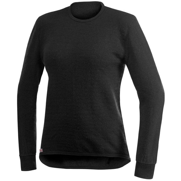 Woolpower Crewneck 200 Unisex Langarm-Unterhemd - schwarz