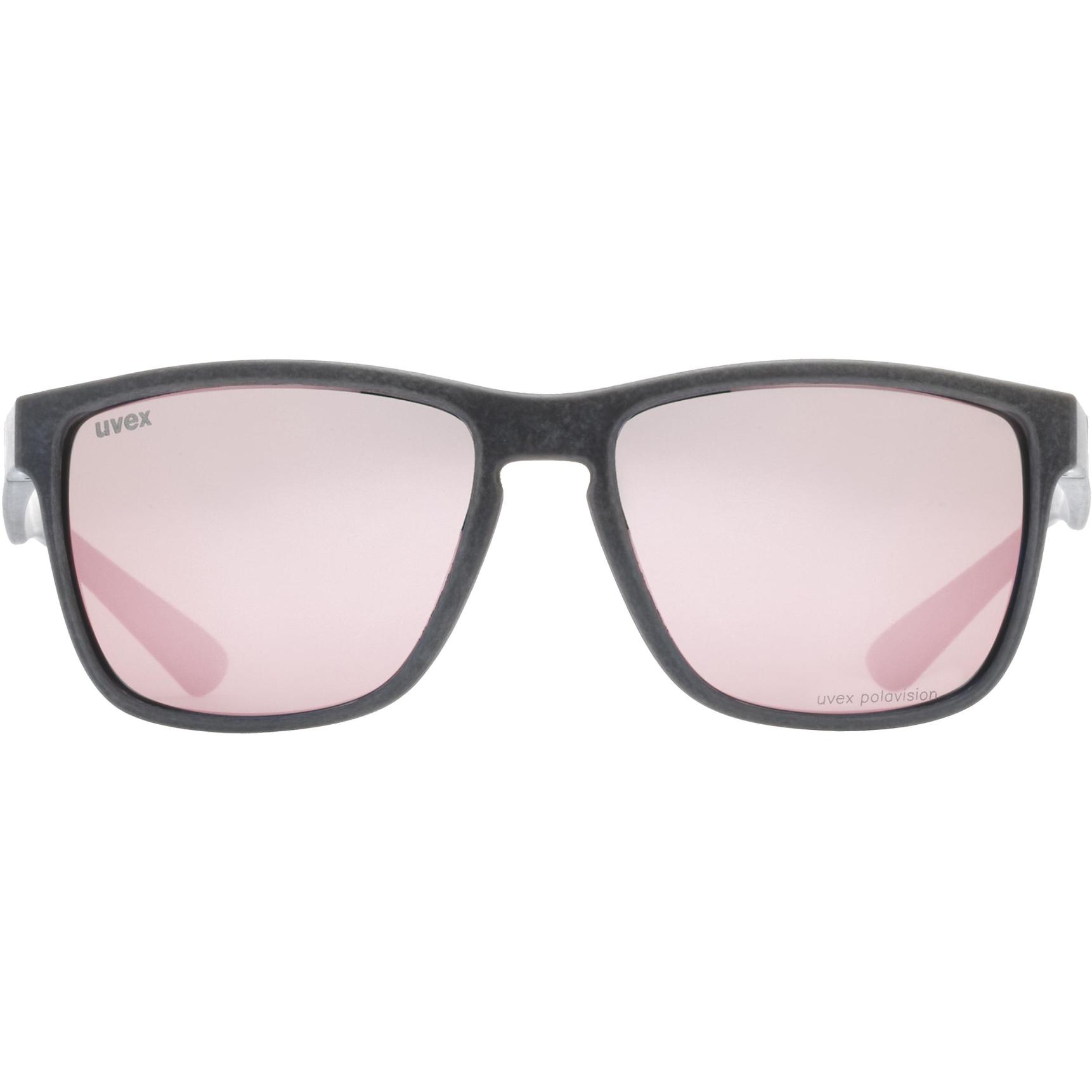 Bild von Uvex lgl ocean 2 P Brille - black mat/polavision mirror rose