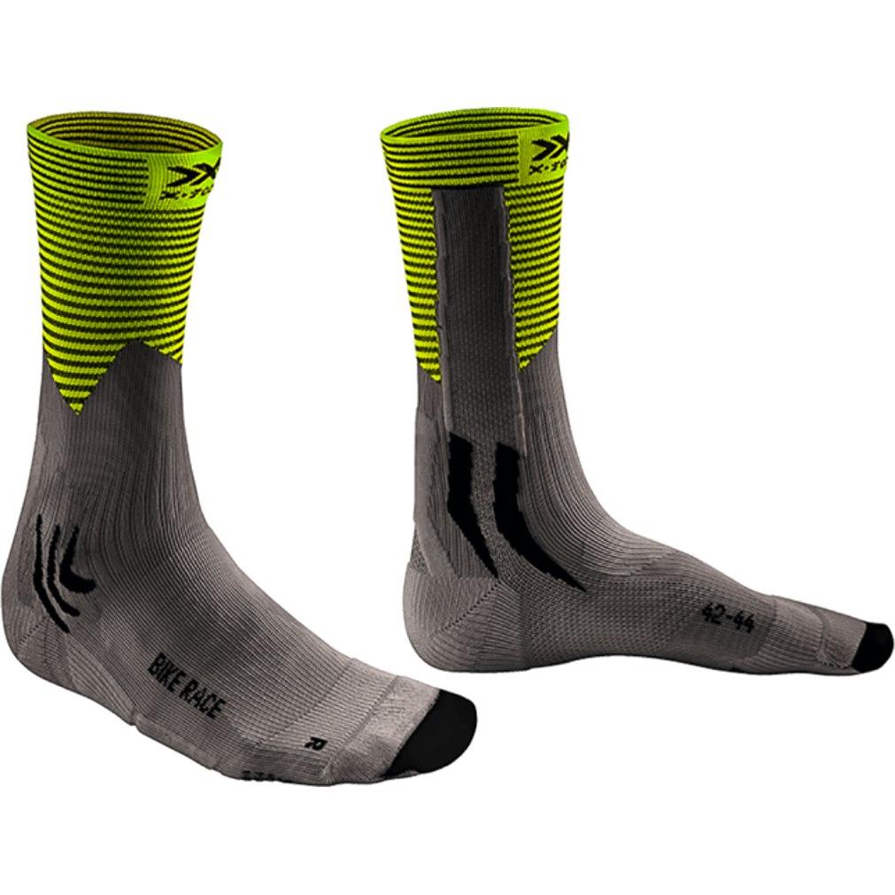 X-Socks Bike Race Socken - charcoal/phyton yellow