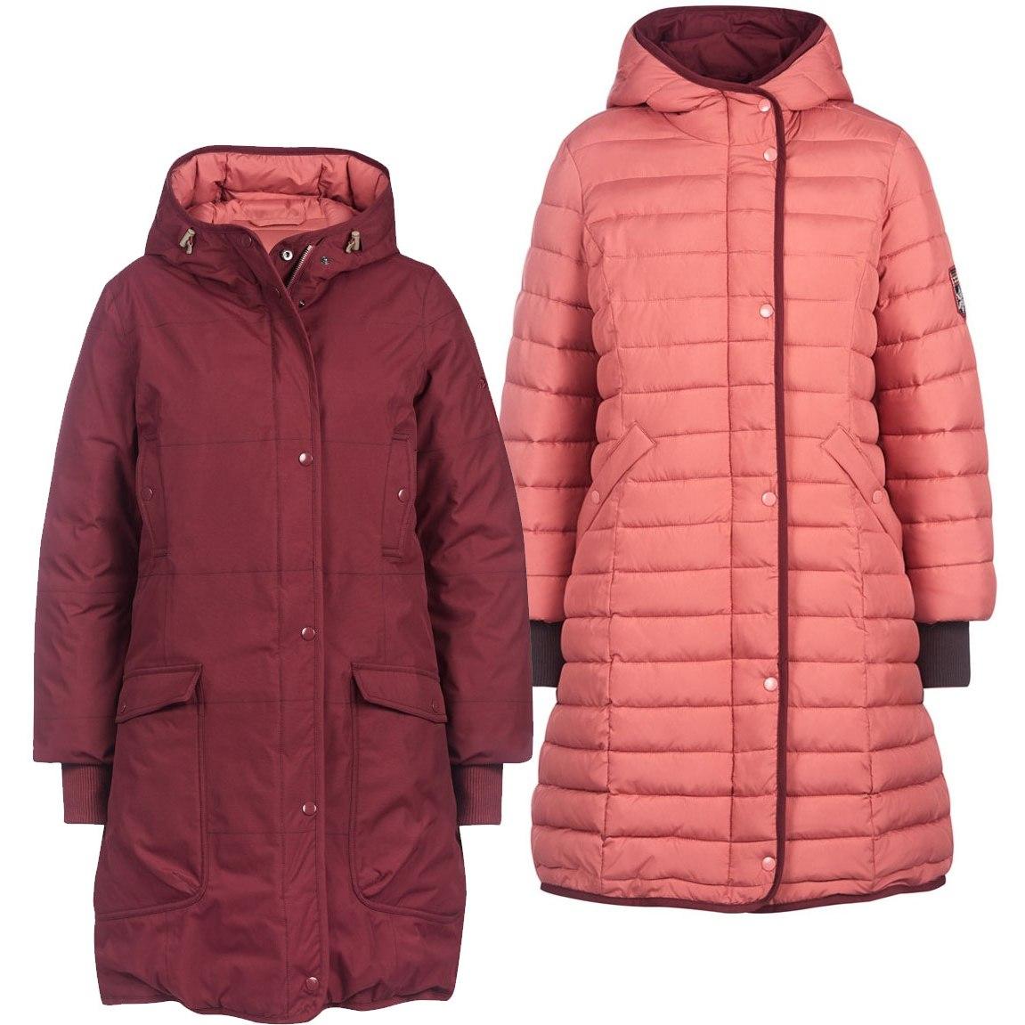 Finside SMILLA Women Reversible Winter Jacket - cabernet/rose