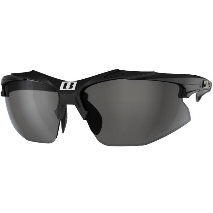 Image of Bliz Hybrid Small Matt Black / Smoke + Orange + Clear Glasses
