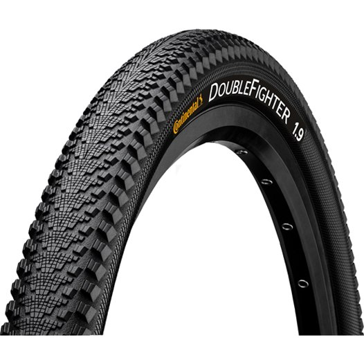 Continental Double Fighter III Sport MTB Wire Bead Tire 26x1.9 Inches - black