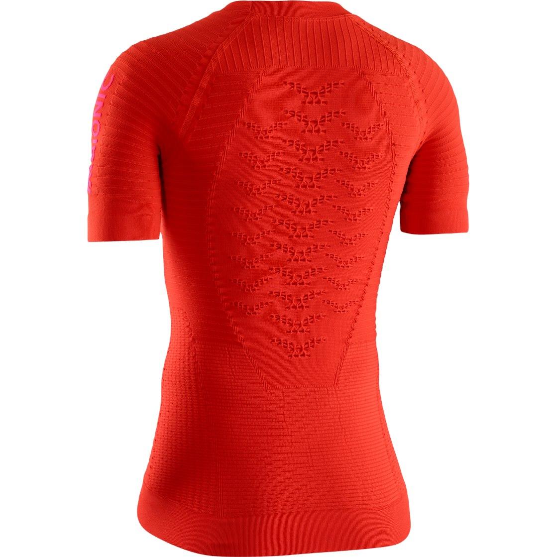 Image of X-Bionic Effektor 4.0 Run Shirt Short Sleeves for Women - sunset orange/nambi red