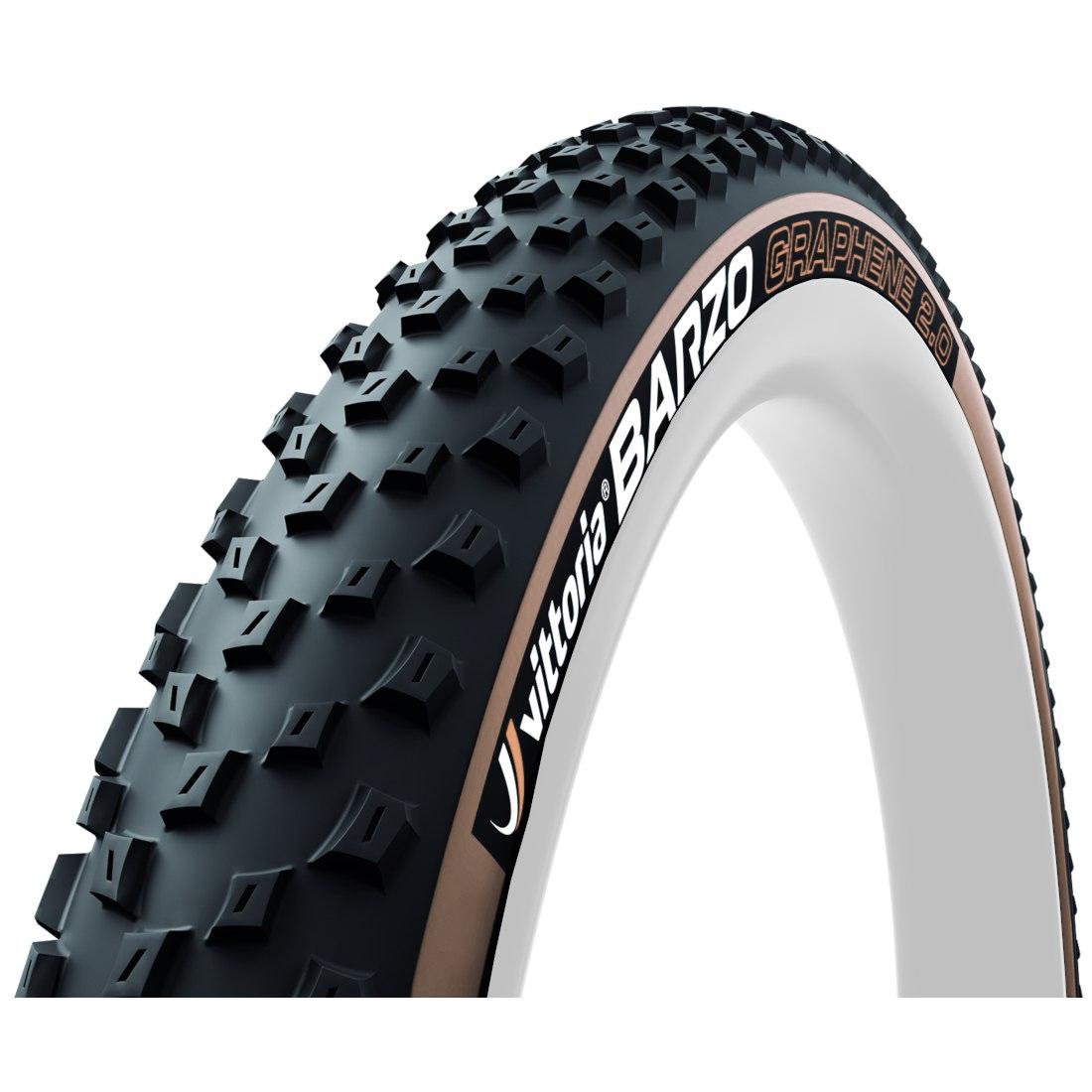 Vittoria Barzo G2.0 TLR 29 Inch MTB Folding Tire - black / tan - ETRTO 55-622