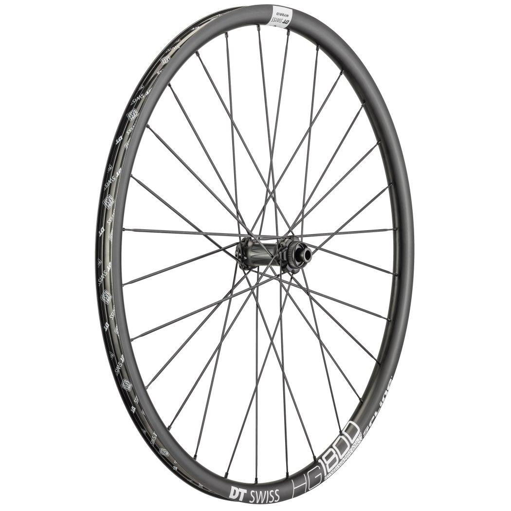 "DT Swiss HG 1800 Spline Black db 25 - 29"" / 700C Front Wheel - Clincher - Centerlock / 6 Bolt - 12x100mm"