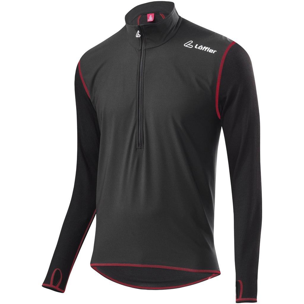 Löffler Windstopper HZ Long Sleeve Shirt Transtex Light 20659 - black/red 995
