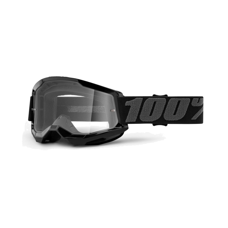 100% Strata 2 Youth Goggle Clear Lens Gafas para niños - Black