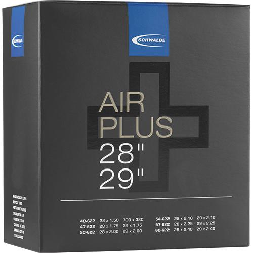 "Schwalbe Tube - Air Plus -  28""/29"" (40/62-622) - AV 19AP - Auto-Valve"