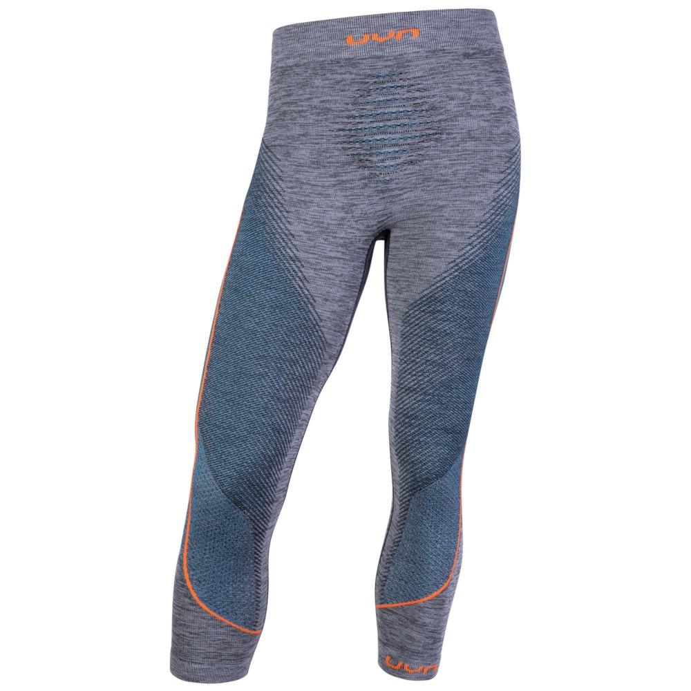 UYN Man Ambityon Pant Medium Melange - Unterhose - Black/Atlantic/Orange Shiny