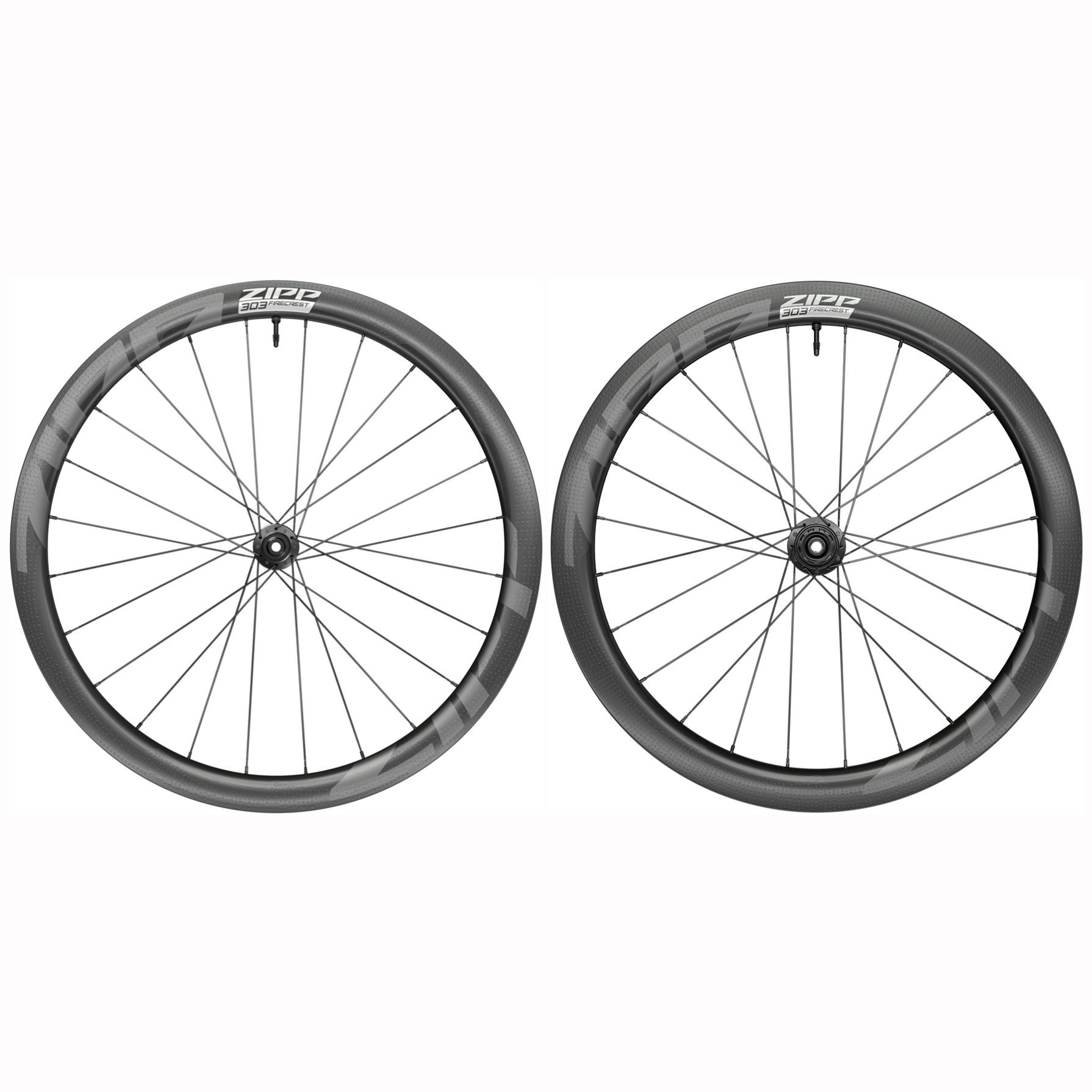 ZIPP 303 Firecrest Carbon Wheelset - Tubeless - Centerlock - FW: 12x100mm   RW: 12x142m - SRAM XDR - black