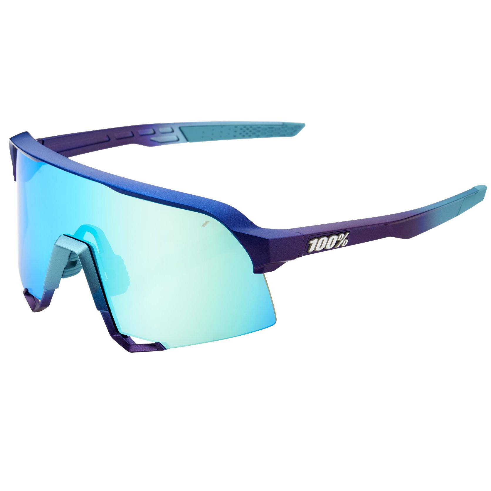 100% S3 Mirror Gafas - Matte Metallic Into the Fade/Blue Topaz Multilayer + Clear