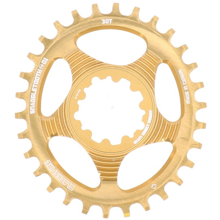 Image of Blackspire Snaggletooth Oval Narrow-Wide Direct Mount Chainring - SRAM GXP - 6mm Offset - 30 Teeth - colored